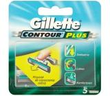 Gillette Contour Plus náhradní hlavice 5 kusů