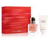 Giorgio Armani Emporio In Love with You parfémovaná voda pro ženy 30 ml + krém na ruce 50 ml, dárková sada