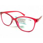 Berkeley Čtecí dioptrické brýle +3,0 plast červené 1 kus MC2191