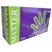 Maxter Rukavice hygienické jednorázové latexové hypoalergenní pudrované, velikost XL, box 100 kusů