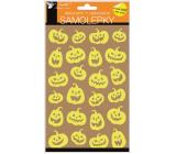 Samolepky Halloween svítící ve tmě rozesmáté dýně 14 x 25 cm