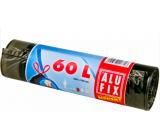 Alufix Economy Sáčky do odpadkového koše zatahovací černé, 8 µ, 60 litrů, 64 x 70 cm, 10 kusů