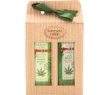 Bohemia Gifts & Cosmetics Cannabis Konopný olej sprchový gel 250 ml + vlasový šampon 250 ml, kosmetická sada