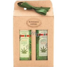 Bohemia Herbs Cannabis Konopný olej sprchový gel 250 ml + vlasový šampon 250 ml, kosmetická sada