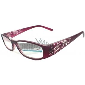 Berkeley Čtecí dioptrické brýle +2,50 fialové retro CB02/MC2 1 kus ER6040