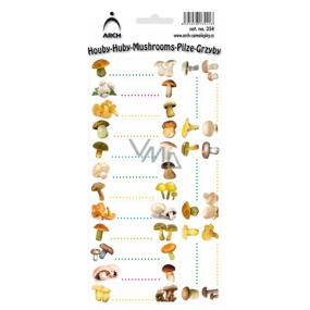 Arch Samolepky na zavařování Houby 354 18 etiket