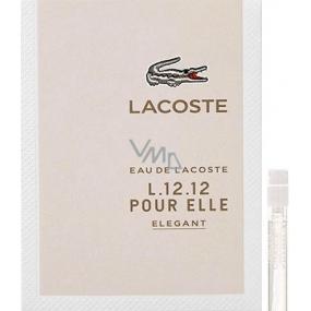 Lacoste Eau de Lacoste L.12.12 Pour Elle Elegant toaletní voda pro ženy 1,5 ml s rozprašovačem, Vialka