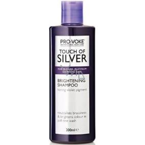 Pro:Voke Touch of Silver intenzivní šampon pro rozjasnění blond, platinových a bílých vlasů 200 ml