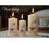 Lima Káva vonná svíčka krémová válec 50 x 100 mm 1 kus