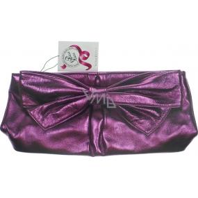 Nina Ricci Ricci Ricci kabelka - psaníčko metalická fialová 27 x 13 x 6 cm