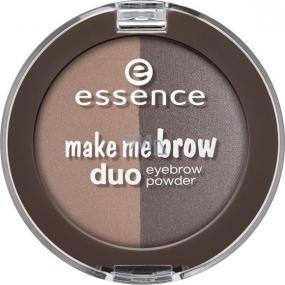 Essence Make Me Brow Duo Eyebrow Powder pudr na obočí 02 Mix It Brunette! 4 g