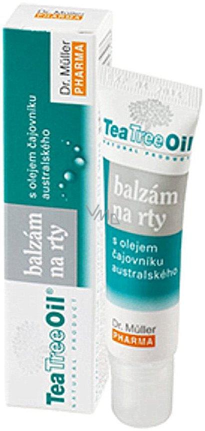 Dr. Müller Tea Tree Oil balzám na suché a namáhané rty 10 ml