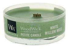 WoodWick White Willow Moss - Vrba a mech vonná svíčka s dřevěným knotem petite 31 g
