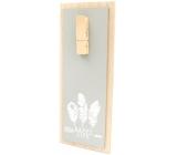 Nekupto Home Decor Dřevěná deska s kolíčkem šedá 30 x 12 cm