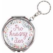 Albi Zrcátko - klíčenka s textem Pro krásný den! 6,5 cm