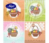 Nekupto Papírové ubrousky 3 vrstvé 33 x 33 cm 20 kusů Velikonoční Vajíčka v košících
