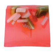 Bomb Cosmetics Jahodová pláň - Strawberry Fields Přírodní glycerinové mýdlo 1 kg blok