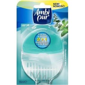 Ambi Pur Fresh & Shine 2v1 Eucalyptus & Mint toaletní blok 55 ml