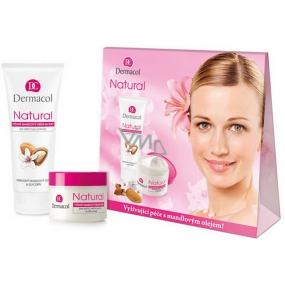 Dermacol Natural výživný mandlový denní pro suchou, velmi suchou a citlivou pokožku 50 ml + výživný mandlový krém na ruce 100 ml, kosmetická sada