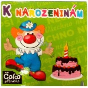 Nekupto Čokopřáníčko K narozeninám s dortem čokoláda 65 g, 008