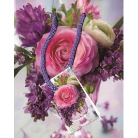 Nekupto Dárková papírová taška malá 14 x 11 x 6,5 cm květiny váza 1159 30 BS