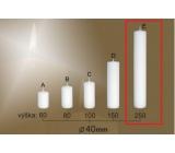 Lima Gastro hladká svíčka bílá válec 40 x 250 mm 1 kus