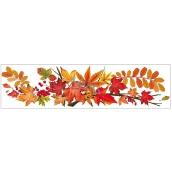 Okenní fólie bez lepidla pruh s podzimním listím 59 x 15 cm č. 3