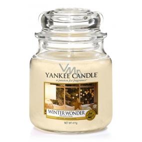 Yankee Candle Winter Wonder - Zimní zázrak vonná svíčka Classic střední sklo 411 g