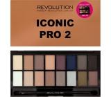 Makeup Revolution Iconic Pro 2 Palette paletka očních stínů 16 g