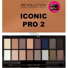 Makeup Revolution Iconic Pro 2 paletka očních stínů 16 g