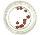 Professional Ozdoby na nehty květina červené se zeleným 132