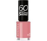Rimmel London 60 Seconds Super Shine Nail Polish lak na nehty 235 Preppy Pink 8 ml