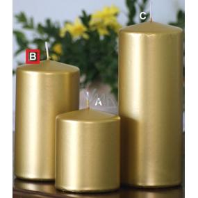 Lima Metal Serie svíčka zlatá válec 80 x 150 mm 1 kus