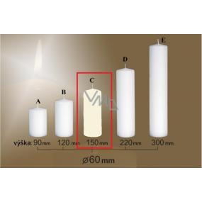 Lima Gastro hladká svíčka slonová kost válec 60 x 150 mm 1 kus