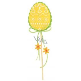 Vajíčko z filcu žluté 8 cm + špejle
