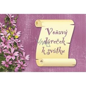 Bohemia Vonný sáček Voňavý dáreček k svátku P8 Levandule 17 x 11,5 x 1,5 cm