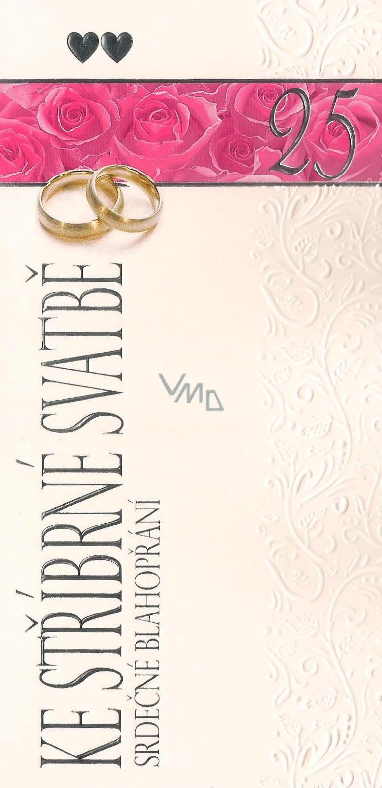 Nekupto Silver Wedding Card Congratulations G 21 3241 Vmd