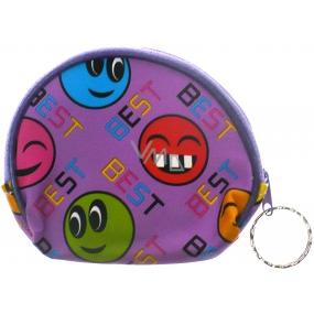 Nekupto Peněženka 002 fialová smajlíci 10 x 8 cm