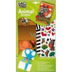 Vystřihovánky se samolepkami a doplňky zvířátka zebra 30 x 17 cm