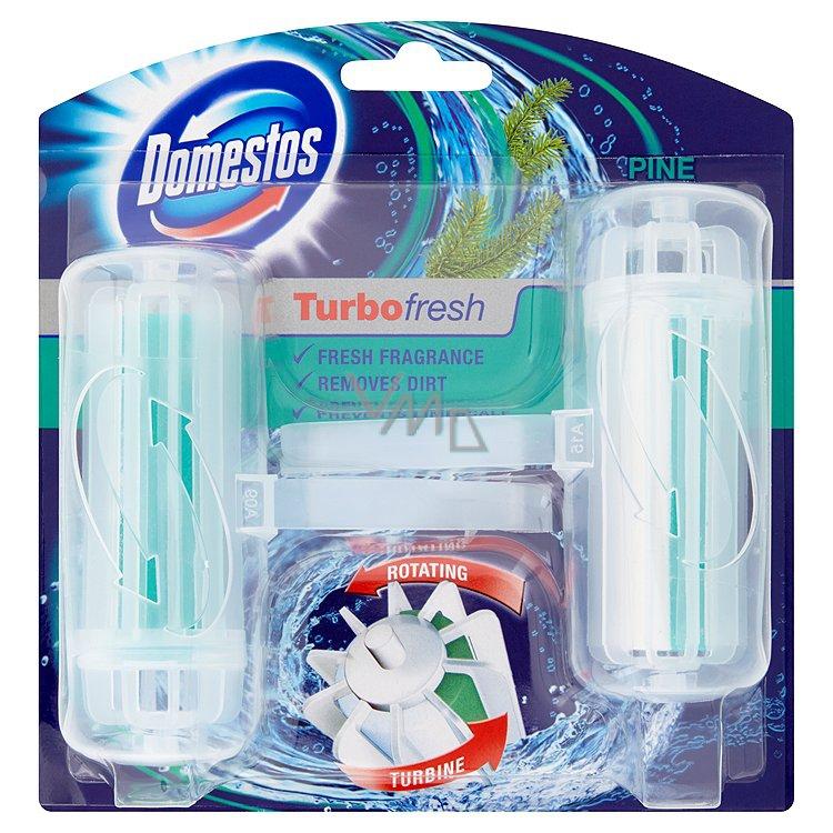 Domestos Turbo Fresh Pine Wc blok rotační tuhý 2 x 32 g