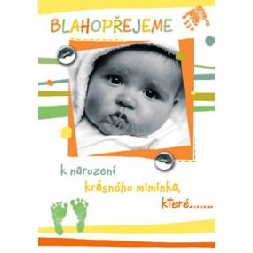 Ditipo Hrací přání Blahopřejeme k narození miminka melodie 224 x 157 mm