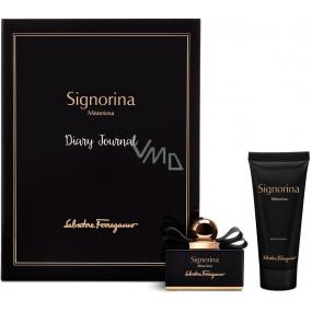 Salvatore Ferragamo Signorina Misteriosa parfémovaná voda pro ženy 50 ml + tělové mléko 100 ml, dárková sada