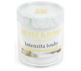Heart & Home Intenzita touhy Sojová svíčka bez obalu hoří až 15 hodin 53 g