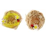 Hnízda z lýka přírodní 7 cm 2 kusy
