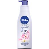 Nivea Rose & Argan oil tělové mléko s olejem dávkovač 200 ml