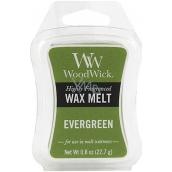 WoodWick Evergreen - Vůně jehličí vonný vosk do aromalampy 22.7 g