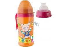 Rotho Babydesign Cool Friends 10+ měsíců nekapající láhev plastová Girl - silikonový náustek 360 ml