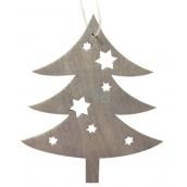 Strom dřevěný šedý na zavěšení 10 cm