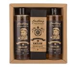 Bohemia Gifts & Cosmetics Sailor sprchový gel pro muže 250 ml + šampon na vlasy 250 ml + toaletní mýdlo 145 g, kosmetická sada