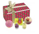 Bomb Cosmetics Vánoční hvězda - Star On Top balistik 2x160 g + kulička 30 g + špalíček 50 g + mýdlo 100 g, kosmetická sada